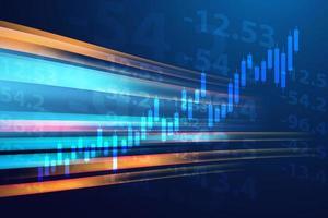 Hintergrund für Aktien- und Grafikdesign. Business Graph Banner Design eps10 Vektor. Illustration. vektor