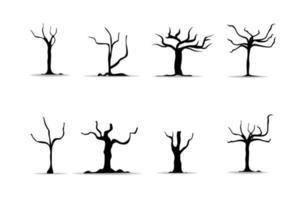 realistische Bäume auf weißem Hintergrund. vektor