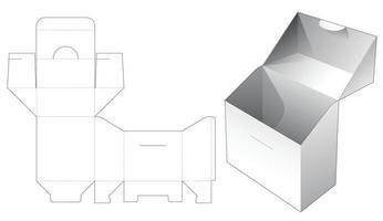 Flip Box und Locked Point Stanzschablone vektor