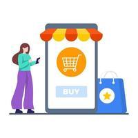 online shopping app koncept