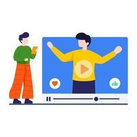videostreaming webbplats koncept