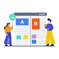 ab testprocess koncept