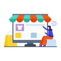 Online-Shopping-Website-Konzept