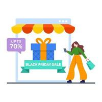 online shopping webbplats koncept