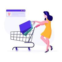 weibliches Online-Shopping-Konzept