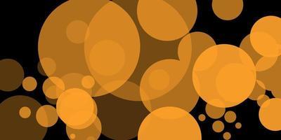 gul bokeh. abstrakt av cirkel ljus bokeh bakgrund. gyllene ljus bakgrund. julbelysningskoncept. vektor illustration