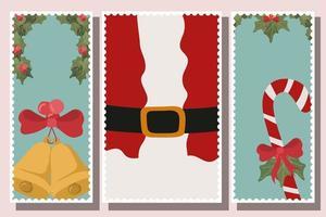 Frohe Weihnachten Kartensatz
