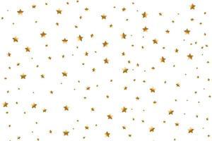 uppsättning gyllene fallande stjärnor. moln av gyllene stjärnor isolerade. meteoroid, komet, asteroid, stjärnor vektor