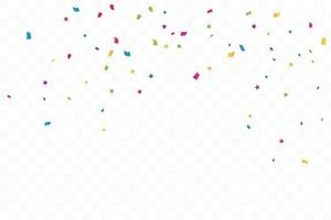 färgglada konfettistjärnor. firande fest. vektor illustration
