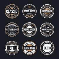 Kreis Vintage und Retro Abzeichen Design vektor