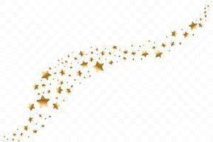 fallende goldene Sterne. Wolke der goldenen Sterne isoliert