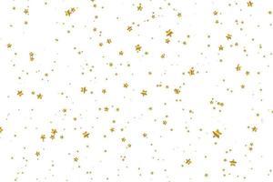 fallande gyllene stjärna. moln av stjärnor isolerade. vektor