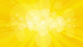 Pop-Art-Hintergrund. Retro gepunkteter Hintergrund. Vektorillustration. Halbton gelbe Pop-Art