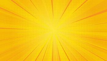 gula serier popkonst bakgrund. gradient halvton popkonst retrostil