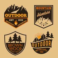 Satz von Outdoor-Camping-Abenteuer vektor