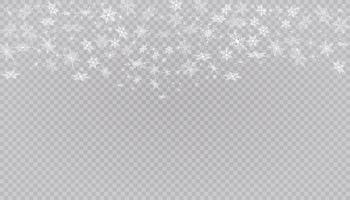 weißer Schnee fliegt. Weihnachtsschneeflocken. Winter Schneesturm Hintergrund Illustration. vektor
