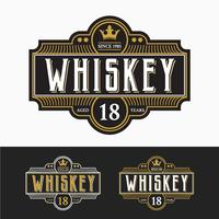 Vintage Premium Whisky Marken Label Design vektor