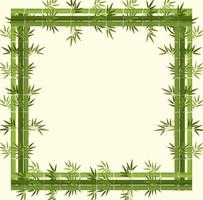 Tom banner med grön bambu ram