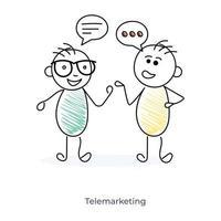 tecknade telemarketing karaktärer
