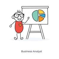 tecknad affärsanalytiker