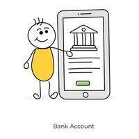 Zeichentrickfigur Banking online