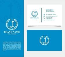 visitkort med logotypen j vektor, eps 10