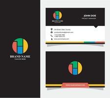 visitkort med logotypen h vektor, eps 10