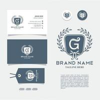 visitkort med logo g-vektorn, eps 10
