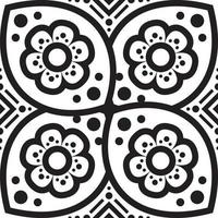 blomma mandala. vintage dekorativa element. orientaliskt mönster, vektorillustration.
