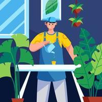 trädgårdsskötsel hemma koncept