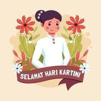 Selamat Hari Kartini Design vektor
