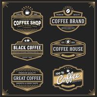 Set med vintage ram design för etiketter banner klistermärke och annat
