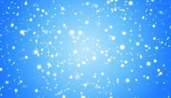 vit snö flyger på en blå bakgrund. jul snöflingor. vinter snöstorm bakgrundsillustration. vektor
