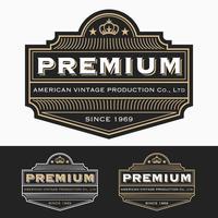 Luxuriöse königliche Logo Vector Re-sizable Design-Vorlage
