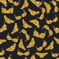 Underkläder sömlöst mönster. Vektor underkläder bakgrundsdesign. Guldkvinna underkläder illustration. Guldbröst och trosor.