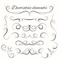 Hand gezeichnete Teiler eingestellt. Dekorative Grenzen gesetzt. Dekorative dekorative Elemente vektor