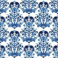 Sömlöst blått mönster.