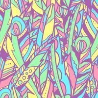 Seamless vektor mönster med stora fjädrar