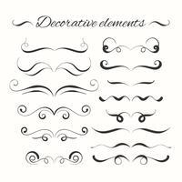 Handgezeichnete Divders gesetzt. Dekorative dekorative Elemente.