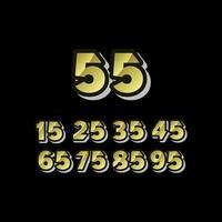 55 Jahre Jubiläumsfeier setzen Nummer elegante Vektorschablonen-Designillustration vektor