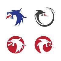 Drachenkopf-Logo-Bilder vektor