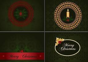 Deep Green Christmas Illustrator Bakgrundsbilder