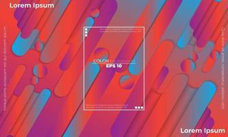 bunter geometrischer Hintergrund mit Gradientenbewegung formt Zusammensetzung vektor