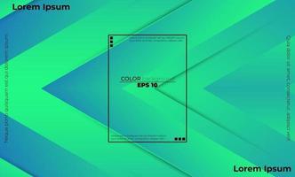 färgglada geometriska bakgrund med lutning rörelse former komposition vektor