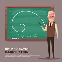 Goldene Verhältnis-Illustration vektor