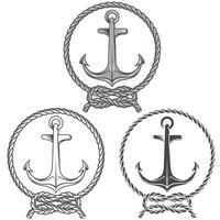 ankar design omgiven av svartvitt rep