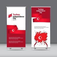glad kalkon självständighetsdagen firande vektor mall design illustration