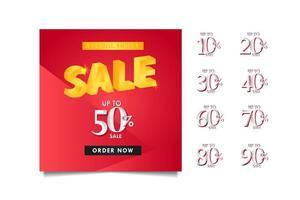 rabatt upp till 50 rabatt på specialerbjudande, beställ nu vektor mall design illustration