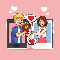 I Kärlek Med Teknologi vektor
