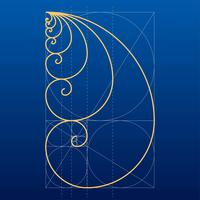Goldener Verhältnis-Gitter-Vektor vektor